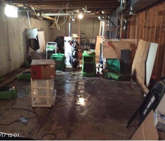 Water Damage in Basement After